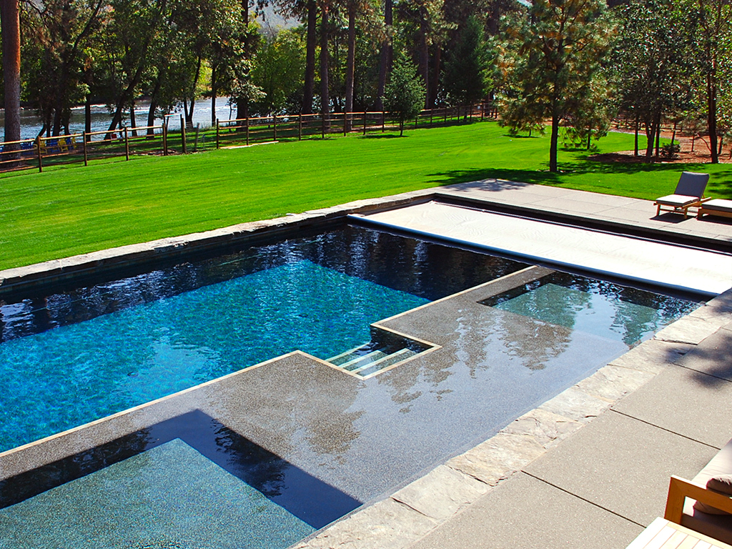 pool bauer durand wi landscaping gunite poolspa even. Black Bedroom Furniture Sets. Home Design Ideas